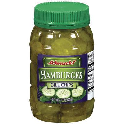 Schnucks Hamburger Dill Chips 16 Oz Plastic Jar