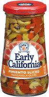 EARLY CALIFORNIA Pimiento Sliced Manzanilla Olives 5.75 OZ JAR