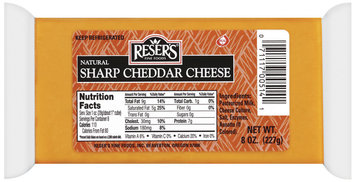 Reser's Fine Foods Natural Sharp Cheddar Cheese 8 Oz Brick