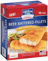 American Pride® Beer Battered Wild Alaska Pollock Fillets 10 ct Box