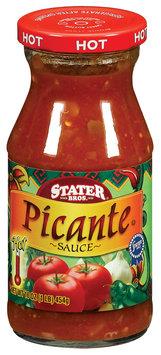 Stater Bros. Hot Picante Sauce 16 Oz Jar