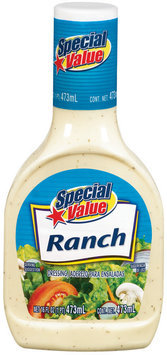 Special Value Ranch Dressing 16 Oz Plastic Bottle
