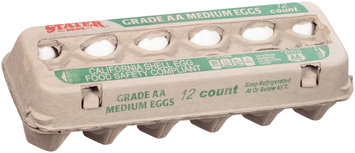 Stater Bros.® Grade AA Medium Eggs 12 ct Carton