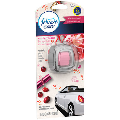 Car Febreze CAR Vent Clips Cranberry Cheer Air Freshener  (1 Count, 0.06 Oz)