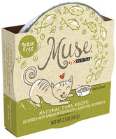 Muse by Purina Natural Tuna Recipe with Spinach in Fish Broth Cat Food 2.1 oz. Tub