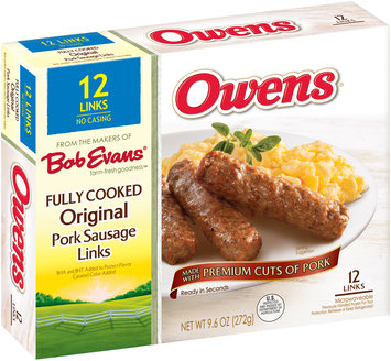 Owens® Fully Cooked Original Pork Sausage Links 9.6 oz. Box