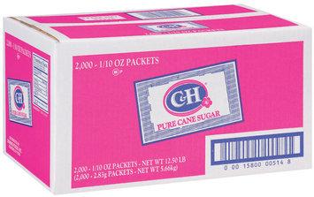 C&H Pure Cane Packets Sugar 2000 Ct Box
