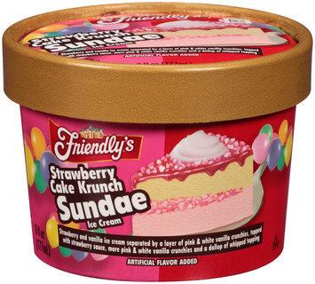 Friendly's® Strawberry Cake Krunch Sundae Ice Cream 6 fl. oz. Cup