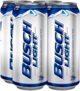 Busch Light Beer 4-16 fl. oz. Cans