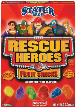 Stater Bros. Rescue Heroes Assorted 6 Pouches Fruit Snacks 5.4 Oz Box