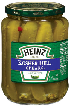 Heinz Kosher Dill Spears Pickles 24 Oz Jar