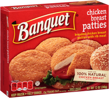 Banquet® Breaded Chicken Breast Patties 12 oz. Box