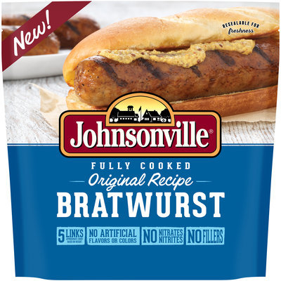 Johnsonville® Fully Cooked Original Recipe Bratwurst 13.3 oz. Bag