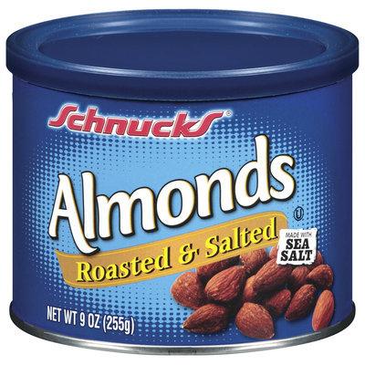 Schnucks Roasted & Salted Almonds 9 Oz Canister