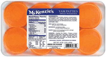 Mckenzie's Sweet Potatoes 8 Ct Yam Patties 16 Oz Tray