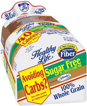 healthy life® sugar free 100% whole grain wheat bread