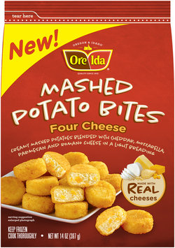 Ore-Ida® Four Cheese Mashed Potato Bites 14 oz. Bag