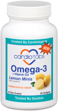 CardioTabs® Omega-3 + Vitamin D3 Lemon Minis Dietary Supplement Softgels
