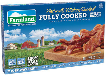 Farmland® Naturally Hickory Smoked Fully Cooked Thick Cut 2.1 oz. Package