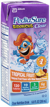 PediaSure Sidekicks® Clear Nutrition Drink Tropical Fruit 6.8 oz cartons