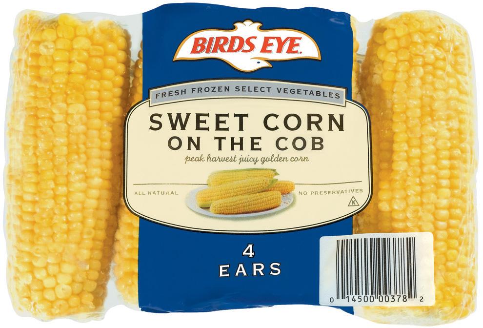 Birds Eye Sweet Corn On The Cob 4 Ct Bag
