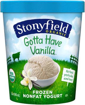 Stonyfield Farm™ Organic Gotta Have Vanilla Nonfat Frozen Yogurt 1 qt Carton