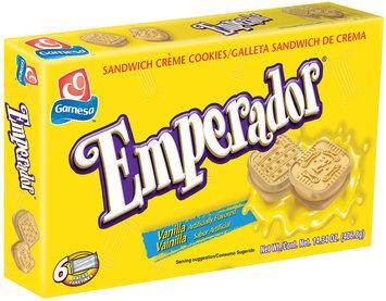 Gamesa Emperador Vanilla Sandwich Creme Cookies 406g Box