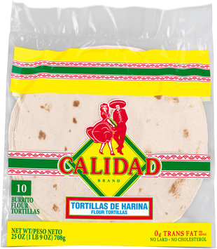 Calidad® Burrito Flour Tortillas 10 ct Bag