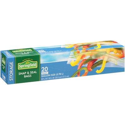 Springfield® Snap & Seal Gallon Size Storage Bags 20 ct Box