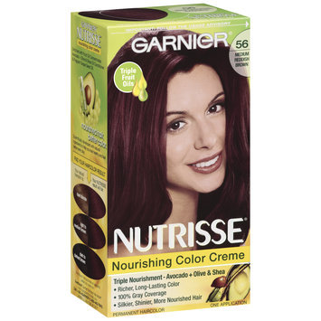Garnier® Nutrisse® Nourishing Color Creme, 56 Medium Reddish Brown (Sangria)