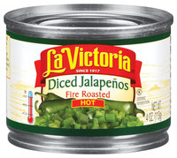 La Victoria® Diced Hot Fire Roasted Jalapenos 4 oz. Can
