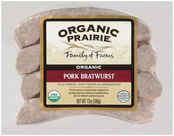 Organic Prairie Organic Pork Bratwurst 4 ct Package