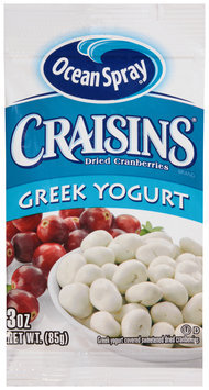 Ocean Spray® Craisins® Greek Yogurt Dried Cranberries 3 oz. Packet