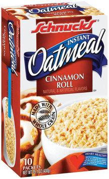 Schnucks Instant Cinnamon Roll Oatmeal 10 Ct Box