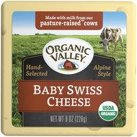 Organic Valley® Baby Swiss Cheese 8 oz. Brick