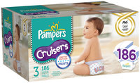 Pampers Cruisers Limited Edition USA Design Economy Plus Size 3 Diapers 186 ct Pack