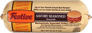 Festive Savory Seasoned Ground Turkey 16 oz. Chub