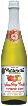 Martinelli's Gold Medal®  Northwest Blend Sparkling Cider 100% Juice 25.4 Fl Oz Glass Bottle