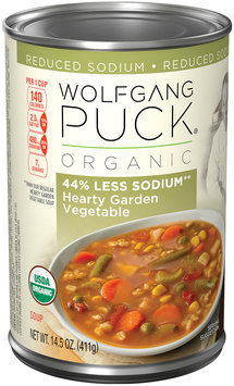 Wolfgang Puck® Organic 44% Less Sodium Hearty Garden Vegetable Soup 14.5 oz. Can