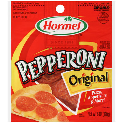 Hormel® Original Pepperoni 6 oz. ZIP-PAK®