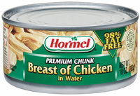 HORMEL Premium Chunk In Water 98% Fat Free Breast of Chicken 10 OZ CAN