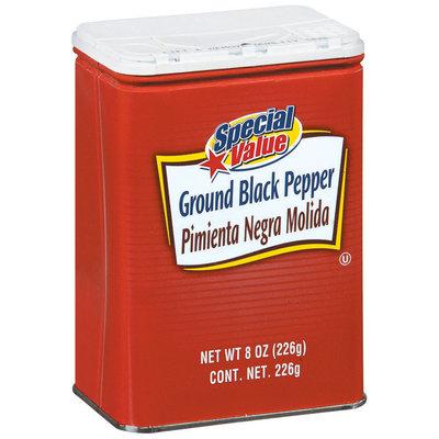 Special Value Ground Black Pepper 8 Oz Shaker