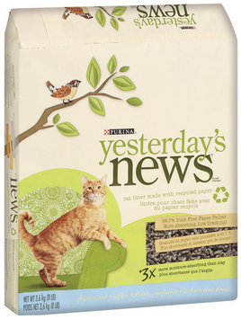 Purina Yesterday's News Fresh Scent Softer Texture Cat Litter 8 lb. Bag