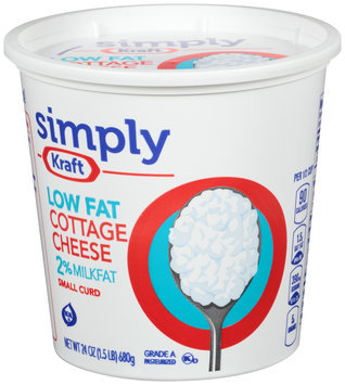 Simply Kraft Small Curd 2% Milkfat Low Fat Cottage Cheese