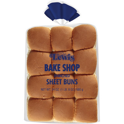 Lewis Bake Shop Enriched Sheet Buns 24 Ct Bag