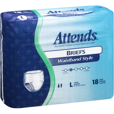 BRW103072 Attends® Briefs Waistband Style Large HHC, 18 count