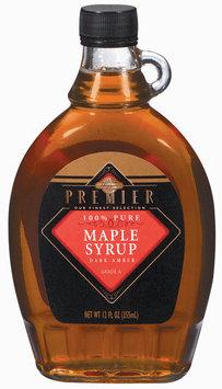 Haggen Premier Maple Dark Amber Syrup 12 Oz Glass Bottle