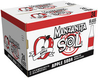 Manzanita Sol® Apple Soda 24 Pack 12 fl. oz. Glass Bottles