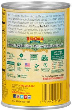 Red Gold® No Salt Added Basil, Garlic & Oregano Diced Tomatoes 14.5 oz. Can