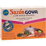 Goya Low Sodium Sazón with Coriander and Annatto
